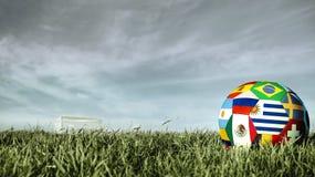 Σφαίρα ποδοσφαίρου ομάδων της Ουρουγουάης για την αθλητική εκδήλωση της Ρωσίας στοκ εικόνες