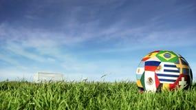 Σφαίρα ποδοσφαίρου ομάδων της Ουρουγουάης για την αθλητική εκδήλωση της Ρωσίας στοκ φωτογραφίες με δικαίωμα ελεύθερης χρήσης