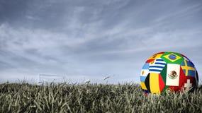 Σφαίρα ποδοσφαίρου ομάδων του Μεξικού για την αθλητική εκδήλωση της Ρωσίας στοκ εικόνες