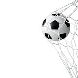 Σφαίρα ποδοσφαίρου σε καθαρό που απομονώνεται Στοκ Εικόνες