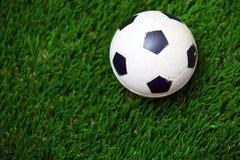Σφαίρα ποδοσφαίρου σε μια χλόη Στοκ εικόνα με δικαίωμα ελεύθερης χρήσης