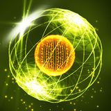 Σφαίρα που αποτελείται από τα σημεία Σφαίρα στοιχείων φιαγμένη από σημεία και σημεία Απεικόνιση σφαιρών Wireframe Αφηρημένο τρισδ απεικόνιση αποθεμάτων