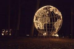 σφαίρα που φωτίζεται Στοκ Εικόνες