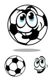 Σφαίρα ποδοσφαίρου ή ποδοσφαίρου κινούμενων σχεδίων charcter Στοκ Εικόνες