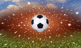 Σφαίρα ποδοσφαίρου με τα αστέρια Στοκ φωτογραφία με δικαίωμα ελεύθερης χρήσης