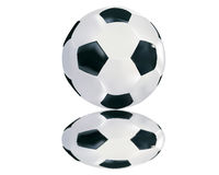 Σφαίρα ποδοσφαίρου με την αντανάκλαση Στοκ Εικόνα