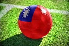 Σφαίρα ποδοσφαίρου με τη εθνική σημαία της Ταϊβάν Στοκ Φωτογραφία