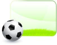 Σφαίρα ποδοσφαίρου με το κενό υπόβαθρο πλαισίων φύσης Στοκ φωτογραφία με δικαίωμα ελεύθερης χρήσης