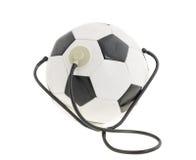 Σφαίρα ποδοσφαίρου με το στηθοσκόπιο στοκ φωτογραφίες