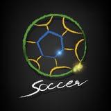Σφαίρα ποδοσφαίρου που επισύρει την προσοχή σε έναν πίνακα απεικόνιση αποθεμάτων