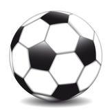 Σφαίρα ποδοσφαίρου που στέκεται σε ένα άσπρο υπόβαθρο Στοκ φωτογραφίες με δικαίωμα ελεύθερης χρήσης