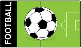 Σφαίρα ποδοσφαίρου ποδοσφαίρου Στοκ Φωτογραφία