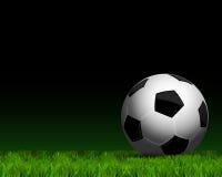 Σφαίρα ποδοσφαίρου στενό σε επάνω χλόης απεικόνιση αποθεμάτων