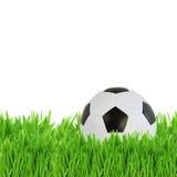 Σφαίρα ποδοσφαίρου στη χλόη Στοκ φωτογραφία με δικαίωμα ελεύθερης χρήσης