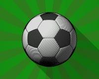 Σφαίρα ποδοσφαίρου χάραξης να λάμψει grenn BG Στοκ εικόνα με δικαίωμα ελεύθερης χρήσης