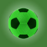 Σφαίρα ποδοσφαίρου χλόης Eco με το ψαλίδισμα της πορείας Στοκ εικόνα με δικαίωμα ελεύθερης χρήσης