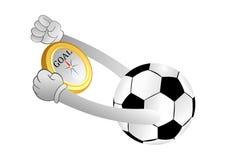 Σφαίρα ποδοσφαίρου Στοκ Φωτογραφίες