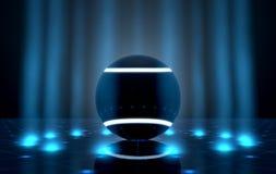 Σφαίρα στη σκηνή Spotlit διανυσματική απεικόνιση