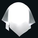 Σφαίρα στο άσπρο ύφασμα Στοκ Εικόνες