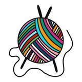 Σφαίρα του συρμένου χέρι λογότυπου μαλλιού νημάτων logotype για προγράμματος σειρών μαθημάτων η κύρια κατηγοριών διδασκαλία μελέτ απεικόνιση αποθεμάτων