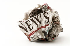 Σφαίρα των κακών ειδήσεων Στοκ εικόνες με δικαίωμα ελεύθερης χρήσης