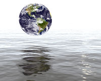Γη που απειλείται από τις πλημμύρες Στοκ εικόνες με δικαίωμα ελεύθερης χρήσης