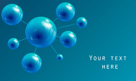 Σφαίρα υπό μορφή μορίου Στοκ φωτογραφία με δικαίωμα ελεύθερης χρήσης