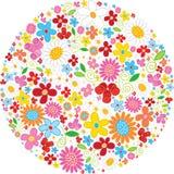 Σφαίρα φιαγμένη από λουλούδια απεικόνιση αποθεμάτων