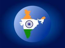 σφαίρα χαρτών της Ινδίας σημαιών Στοκ φωτογραφίες με δικαίωμα ελεύθερης χρήσης