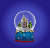 Σφαίρα χιονιού Χριστουγέννων ή σφαίρα γυαλιού Στοκ φωτογραφία με δικαίωμα ελεύθερης χρήσης