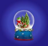 Σφαίρα χιονιού Χριστουγέννων ή σφαίρα γυαλιού Στοκ Φωτογραφίες