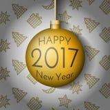 Σφαίρα Χριστουγέννων καλής χρονιάς 2017 Στοκ εικόνες με δικαίωμα ελεύθερης χρήσης