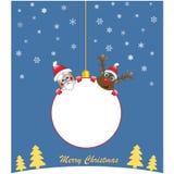 Σφαίρα Χριστουγέννων με τους διάσημους χαρακτήρες απεικόνιση αποθεμάτων