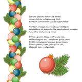 Σφαίρα Χριστουγέννων με το χρυσό τόξο Παιχνίδι Χριστουγέννων διακοπών για το δέντρο έλατου διανυσματική απεικόνιση