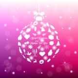 Σφαίρα Χριστουγέννων, eps10 Στοκ Εικόνες