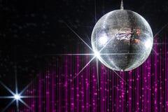 Σφαίρα disco νυχτερινών κέντρων διασκέδασης Στοκ Εικόνες