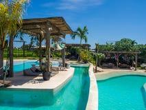 Σφαίρα Disco που απεικονίζει την πράσινη πισίνα στοκ εικόνες