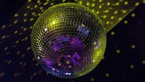 Σφαίρα Disco στο κόμμα απόθεμα βίντεο