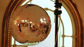 Σφαίρα Disco στο συμπόσιο απόθεμα βίντεο