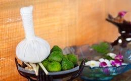 σφαίρα herb herbs massage spa Στοκ φωτογραφία με δικαίωμα ελεύθερης χρήσης