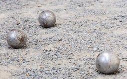 σφαίρα petanque Στοκ Εικόνες