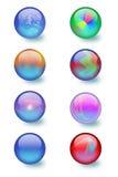 σφαίρες γυαλιού σχεδίο& Στοκ Εικόνα