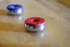 Σφαίρες επιτραπέζιου Shuffleboard Στοκ Φωτογραφίες
