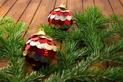 Σφαίρες διακοσμήσεων Χριστουγέννων Στοκ Εικόνες