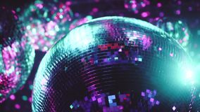 Σφαίρες καθρεφτών disco κόμματος απόθεμα βίντεο