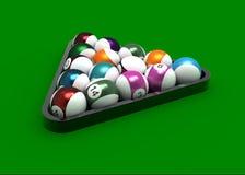 σφαίρες μπιλιάρδου απεικόνιση αποθεμάτων