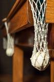 Σφαίρες μπιλιάρδου στο πλέγμα Στοκ Εικόνες