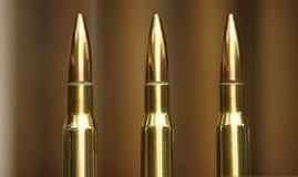 Σφαίρες πολυβόλων που εκτίθενται σε μια επίδειξη Στοκ Φωτογραφία