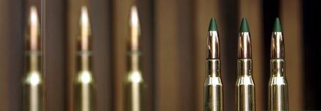 Σφαίρες πολυβόλων που εκτίθενται σε μια επίδειξη Στοκ Εικόνα