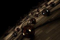 σφαίρες που τίθενται Στοκ Φωτογραφία